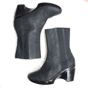 Cole Haan Nike Air Leather Wedge Boots